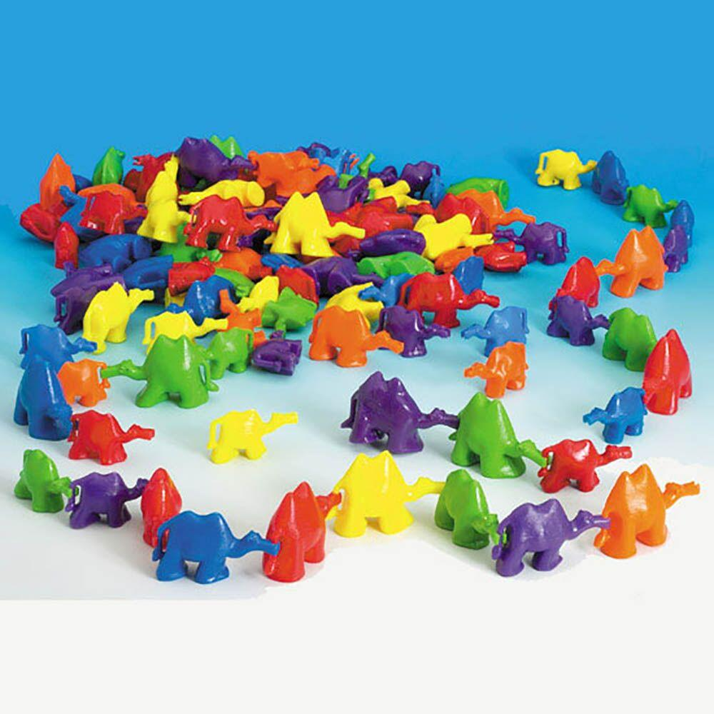 3D Coloured Connecting Camel Figures 96pk