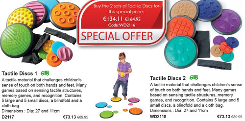 Set of 10 Tactile disks