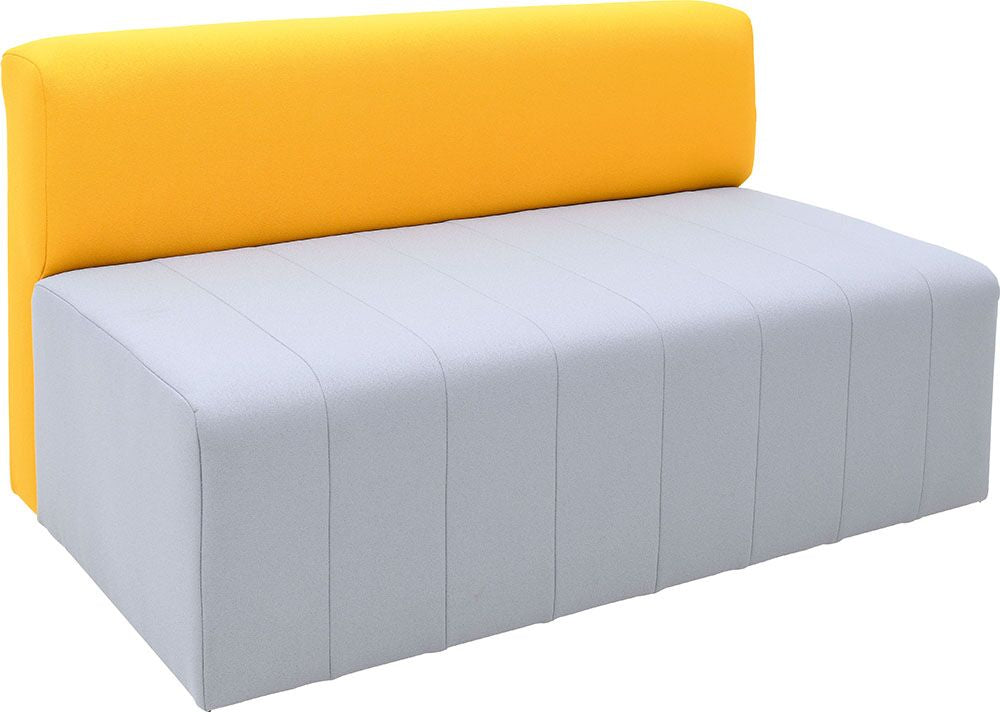 Modern sofa Plus, grey-mustard