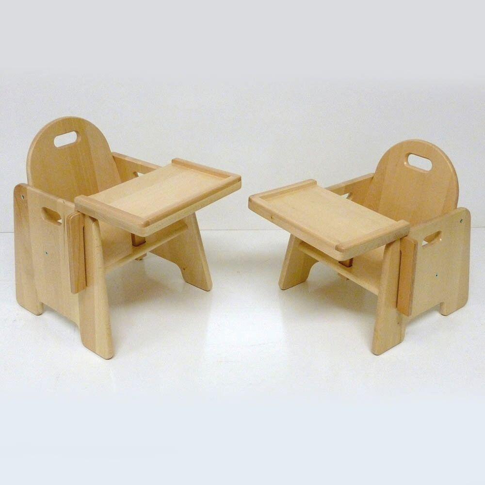 Infant Wooden Feeding Chair with Tray H20cm