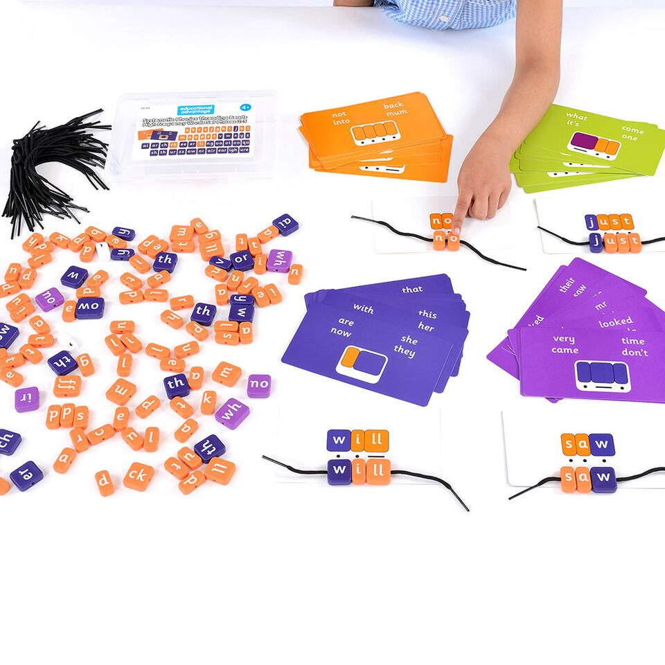 Phonics Threading Beads - High Frequency Words Set