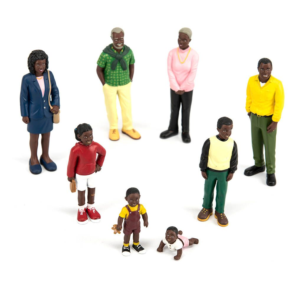 Small World Plastic Block People Black Family