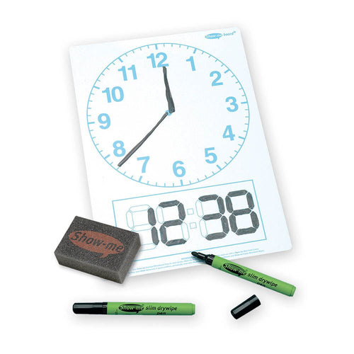 Show Me Telling the time Dry Wipe Boards 35pk