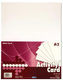 A2 160Gsm Activity Card 25 Sheets - White