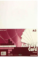 A3 160Gsm Activity Card 50 Sheets - White