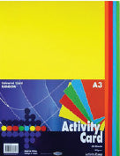 A3 160Gsm Activity Card 50 Sheets - Rainbow
