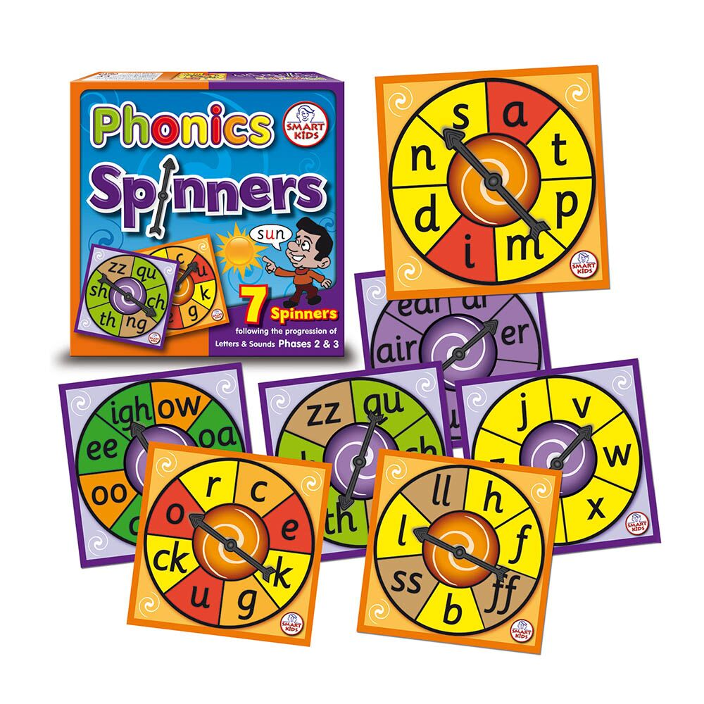 Phases 2&3 Phonics Spinners
