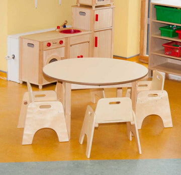 40cm Magnolia Round Table & 4 20cm Wobbler Chairs