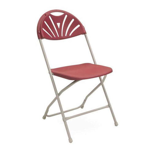 Fan Back Folding Chair Red