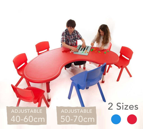 Adjustable Horseshoe Polyethylene Table All Colours and Heights