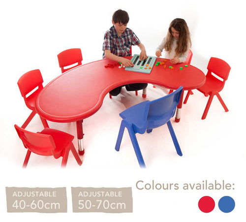 Adjustable Polyethylene Horseshoe Table And Chairs - All Heights And Colours