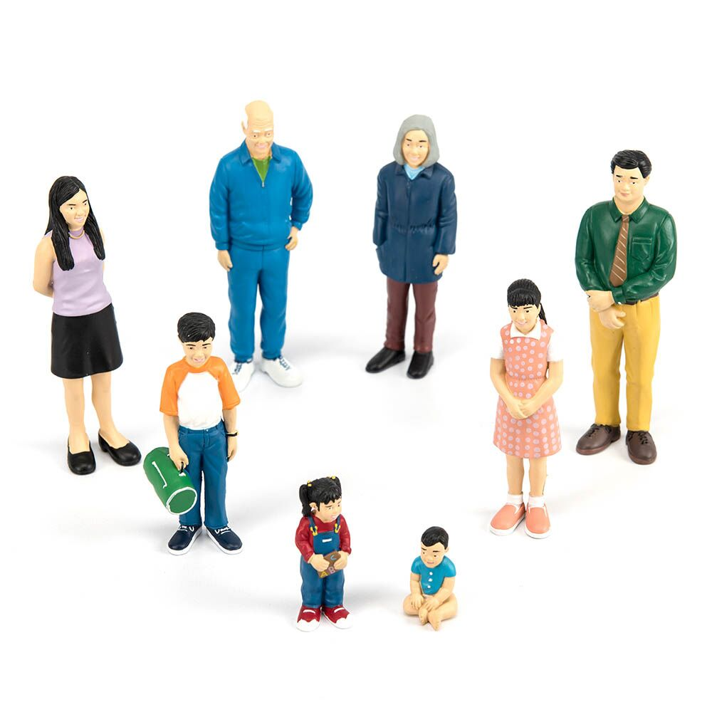 Small World Plastic Block People White Family