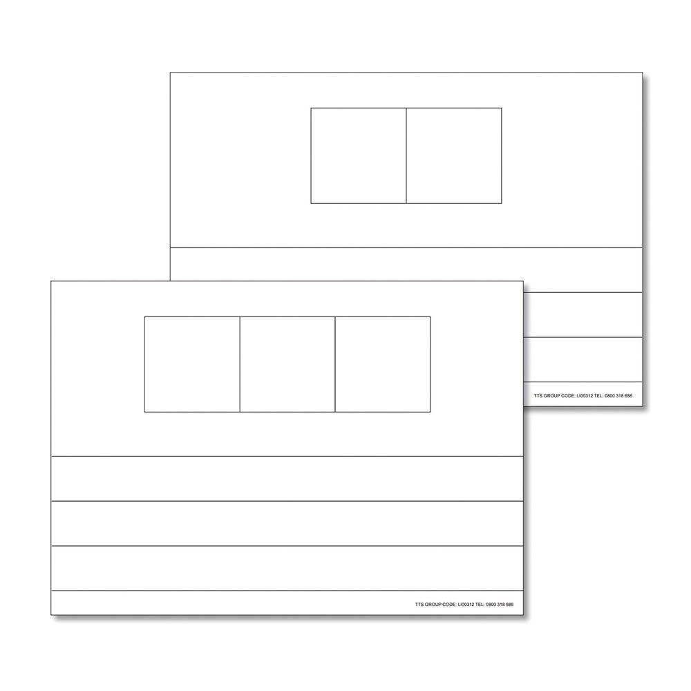 4/5 Phoneme Frame Whiteboard  Sets of 6