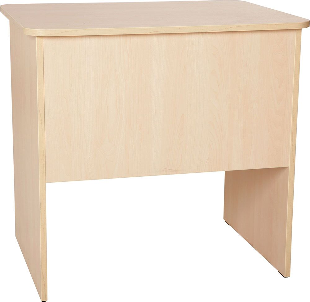 Quadro - desk with wide drawer white/maple - white