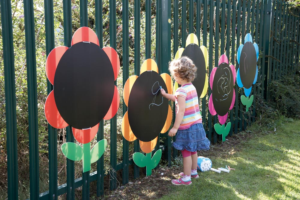 Outdoor Activity Wall Panel - Mark Making Daisies - 5pk