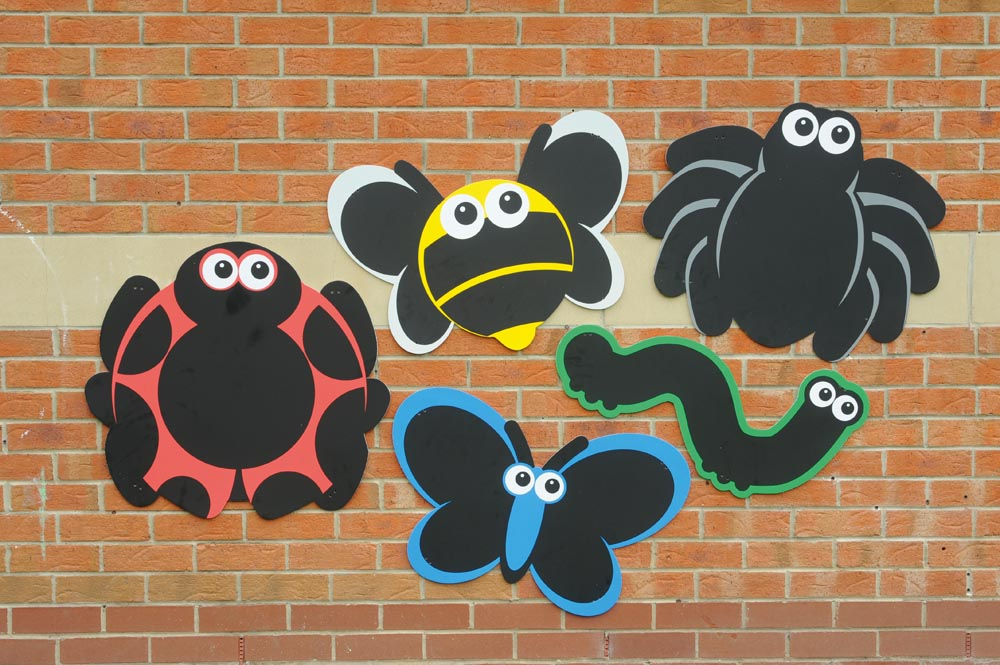 Outdoor Activity Wall Panel Chalk board - Minibeasts Set of 5