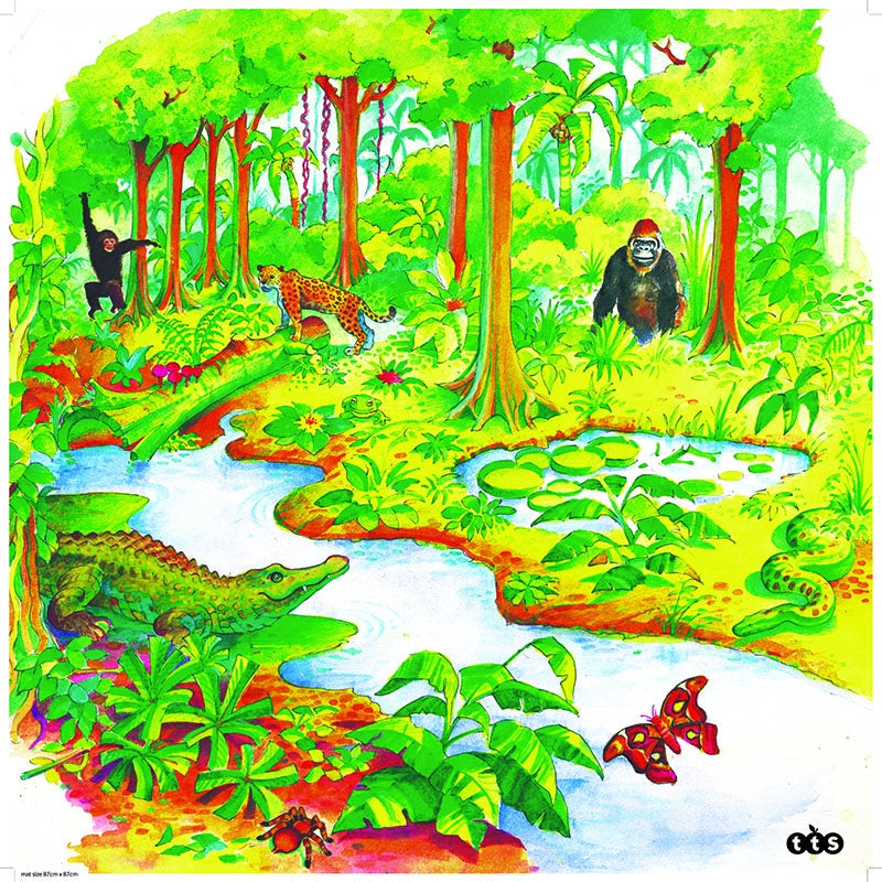 Active World Tuff Tray Jungle Mat