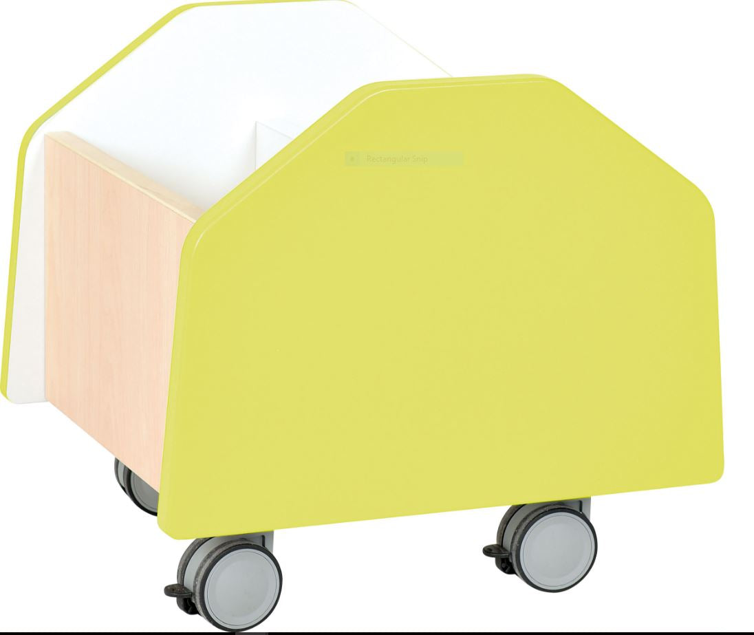 Quadro - small container on wheels - lime
