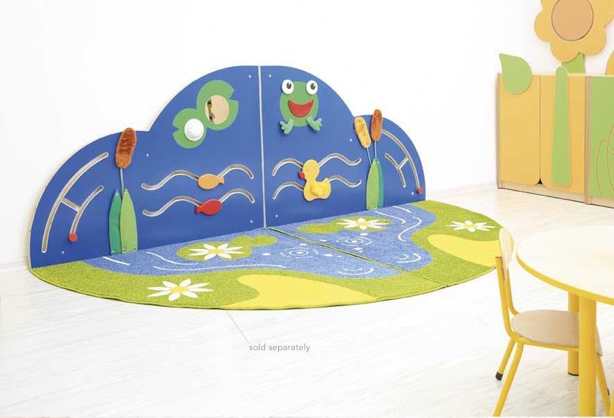 Two-piece manipulative corner - pond