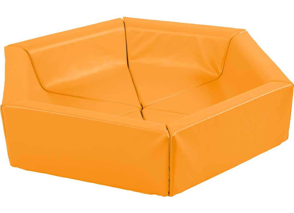 Closed Foam playpen, orange