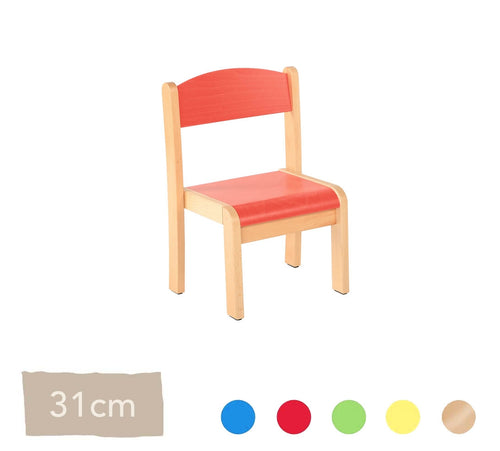 Philip Wooden Chair 31cm All Colours
