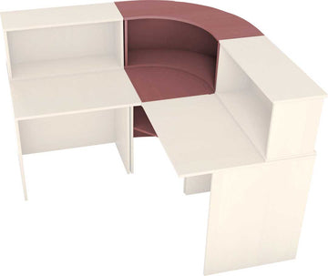 Corner Reception desk with level raiser