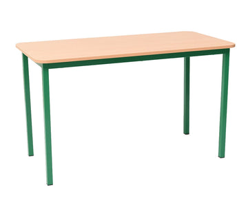 Steel Rectangular Table - Green 71cm