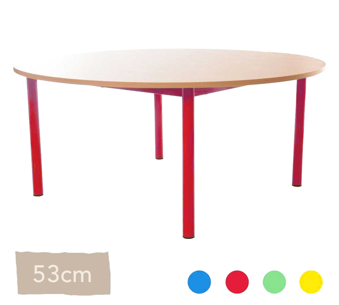 Steel Round Table 53cm All Colours