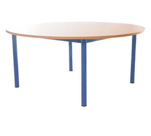 Steel Legged Round Table - Blue 64cm