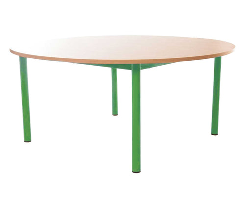 Steel Legged Round Table - Green 71cm