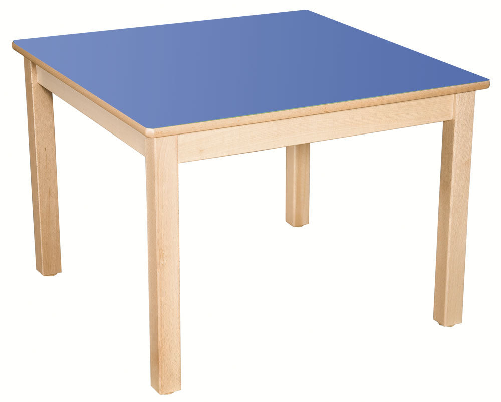 Square Table Blue All Heights