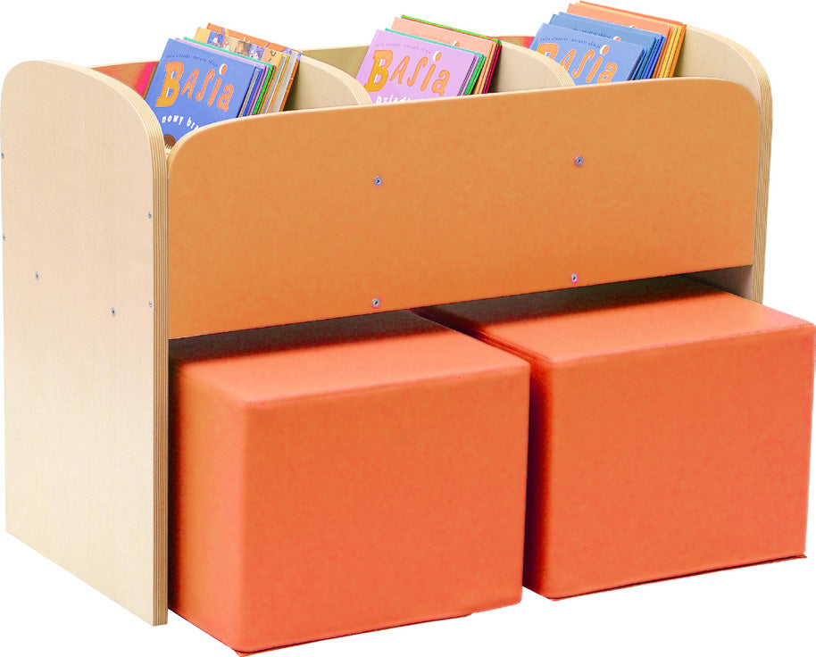 Special Classroom Browser Unit Orange with Poufs