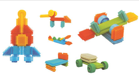 Large Construction Set - Bristle Blocks - 256 pieces
