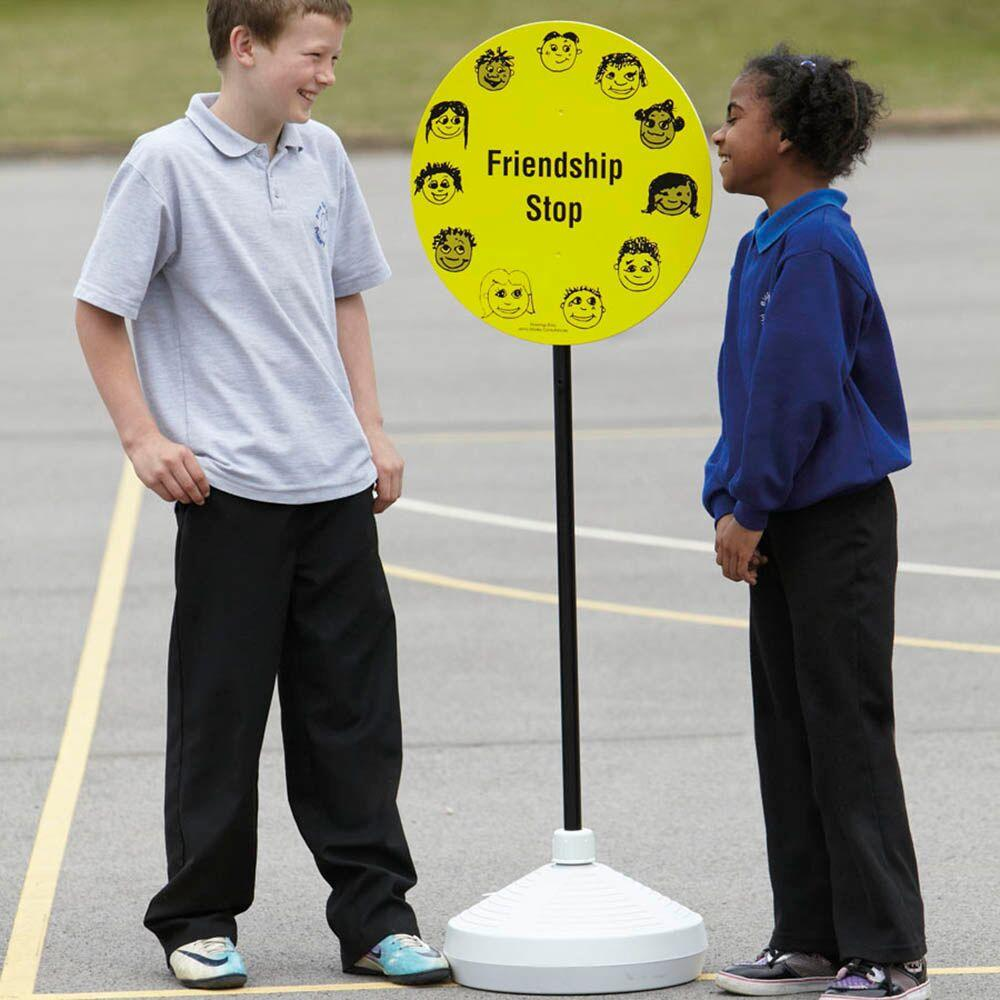 Friendship Stop Playground Sign With Stand