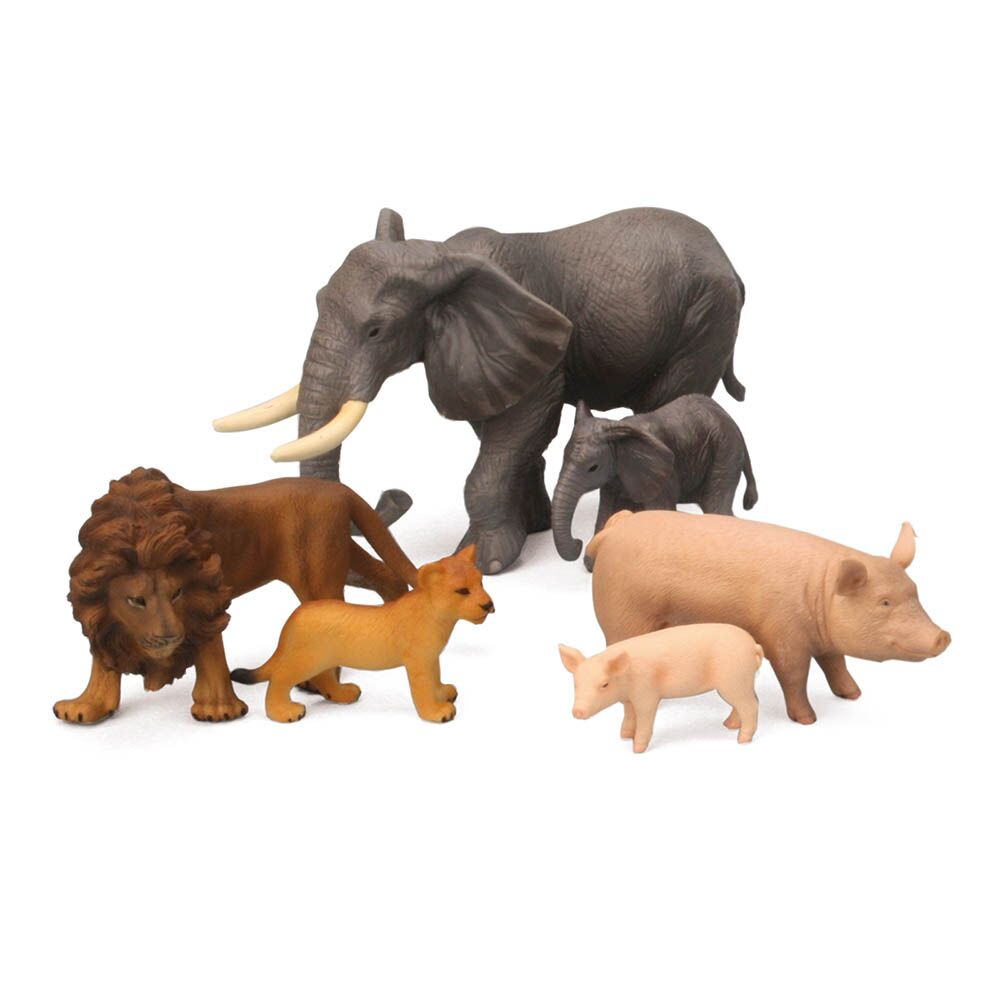 Small World Wild and Farm Animals and Young Set
