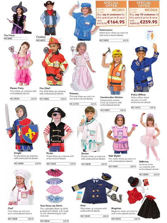 Set of 10 Costumes