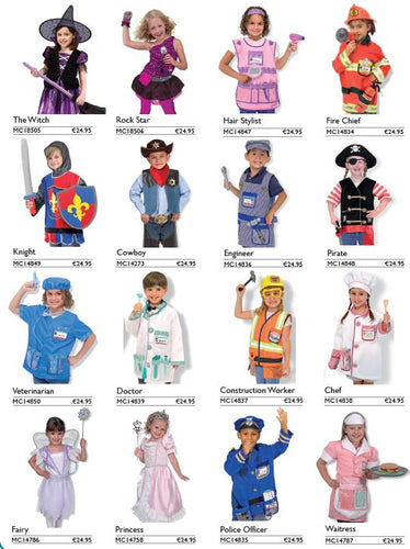 Set of 6 Costumes
