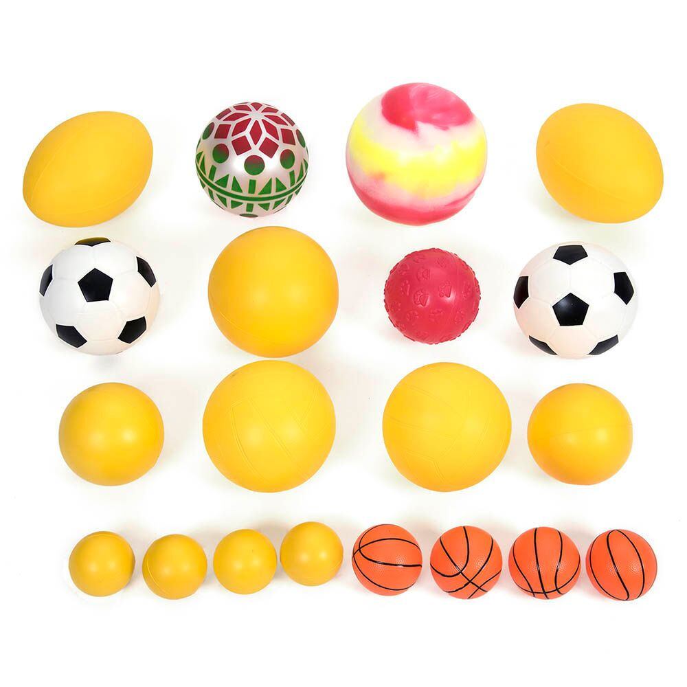 Jumbo 20 Mixed Foam and PVC Play Balls with Bag