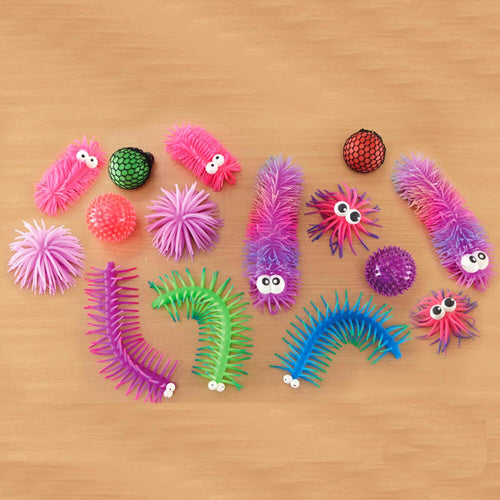 Tactile Sensory Grip Creatures and Balls Set 14pcs