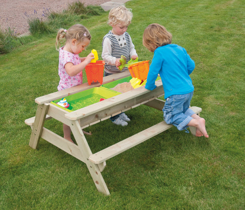 Deluxe Picnic Table Sandpit