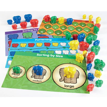 Elephant Counters and Activity Cards 40pcs