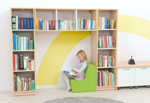 Quadro - reading corner, white/maple