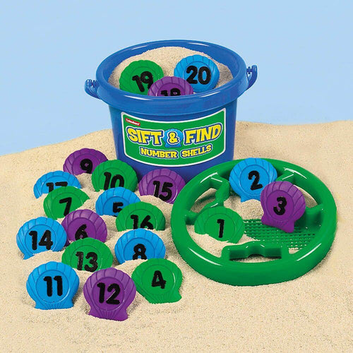 Number Shells Sieve and Bucket Set 1-20