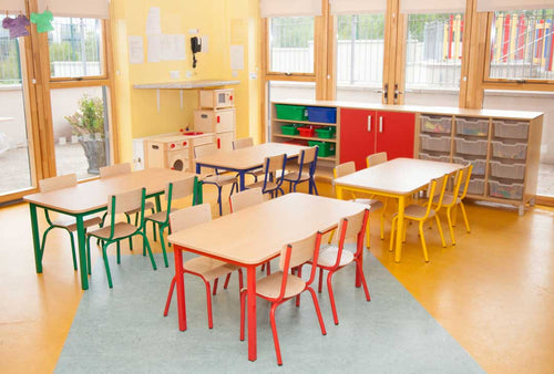 EASE Classroom with  Steel Chairs  30cm