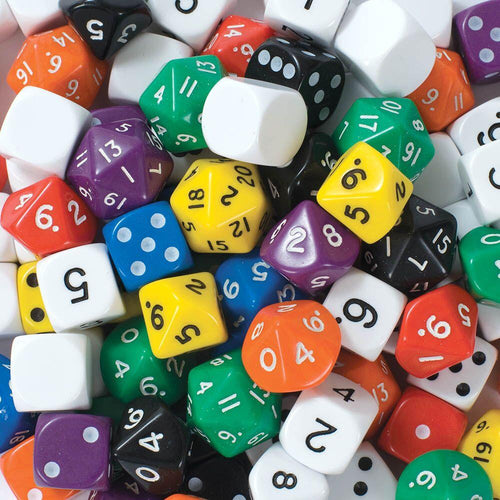 Jar of 100 Dice Mix Sets Spot Dice