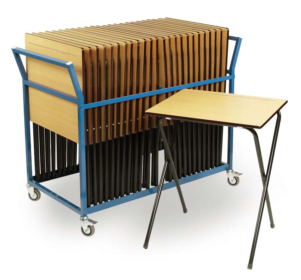 Exam Desks with Trolley