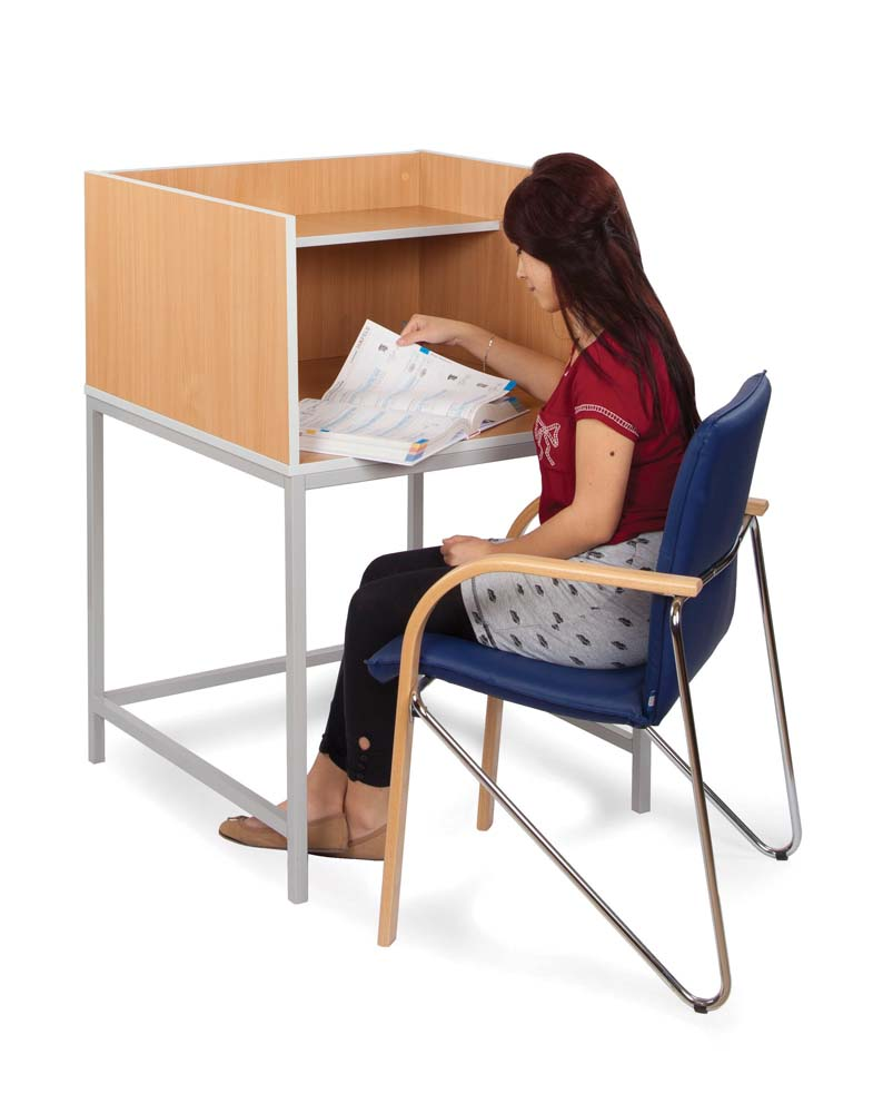 Study Carrel with Straight Legs