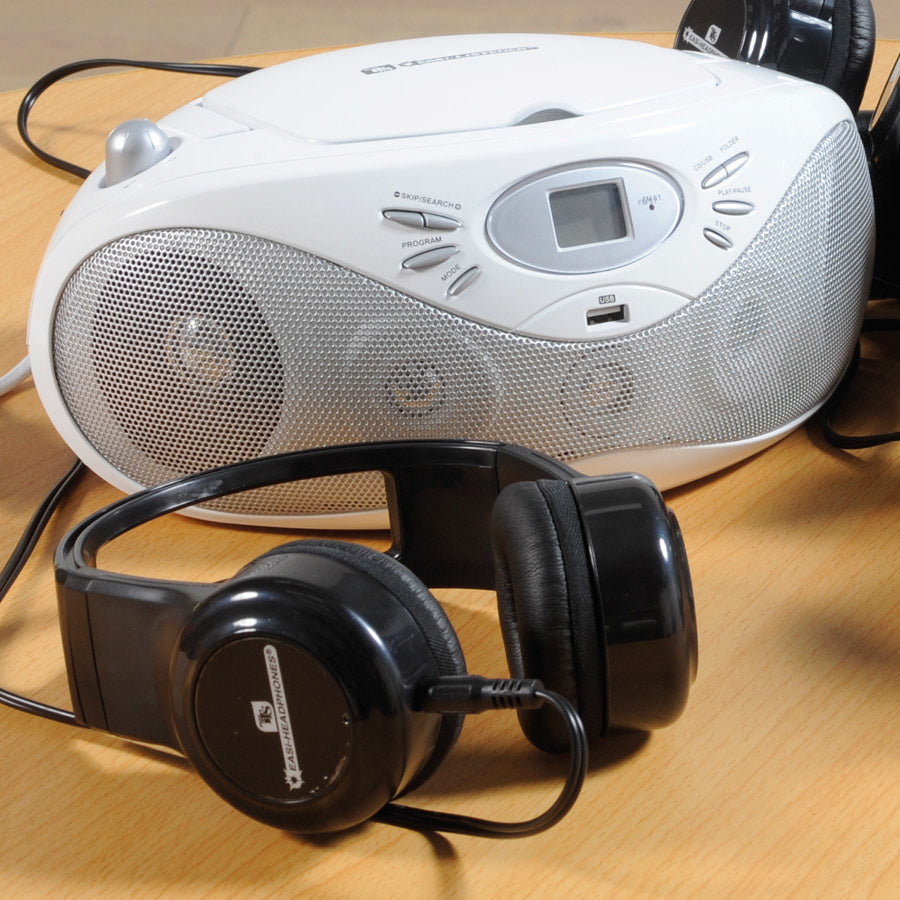 Easi-Listener CD Player with 6 Easi-Headphones