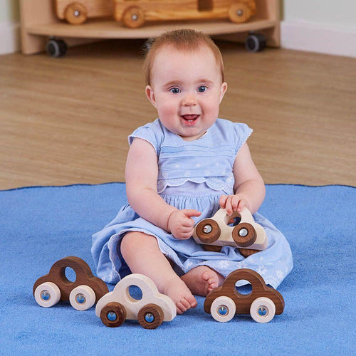 Natural Wooden Vehicles pk4