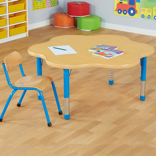 Copenhagen Flower Shaped Classroom Table Blue